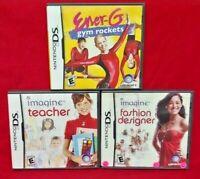 Imagine Fashion Designer Teacher Gym Rockets - Game Lot Nintendo DS Lite 3DS 2DS