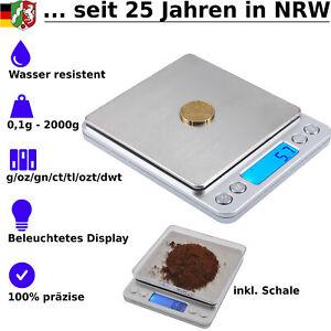 Digitale Küchenwaage Haushaltswaage Küchen Waage Digitalwaage 2kg / 0.1 Gramm