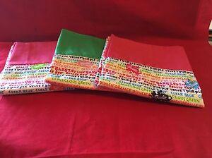 Handmade  pillow case fashion doll theme pink/green 3 girls