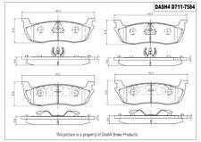 Disc Brake Pad Set-Metallic Pads Rear Pronto PMD711