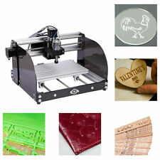 5500mw 3 Axis Mini Cnc Engraving Machine Router Wood Leather Plastic Carving 12w