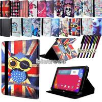 "For Various 7"" 8"" LG G Pad Tablet - Smart Stand Leather Cover Case + Stylus"