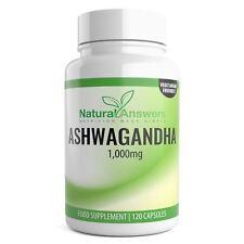 ASHWAGANDHA 1,000MG 120 CAPSULES STRONG STRESS & FATIGUE RELIEF MAXIMUM STRENGTH