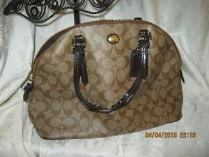 Coach Leather Large Sierra Satchel Hand Bag Brown