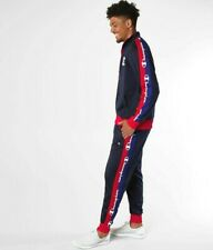Champion Life Men's 2 Piece Tracksuit Track Jacket Pants Navy S M L XL 2XL 3XL