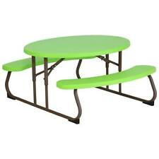 Lifetime 60132 Children's Oval Picnic Table, Lime Green Outdoor/Indoor Kids Play