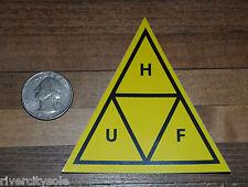 HUF SF Triangle  Yellow / Black DBC Sticker Decal Supreme