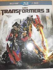 TRANSFORMERS 3 FILM IN BLU-RAY+DVD CON SLIPCASE NUOVO DA NEGOZIO INCELLOFANATO