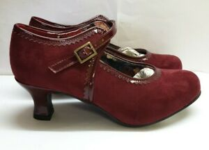 TRS# Joe Browns Burgundy Low Heel Shoes SIZE UK 5