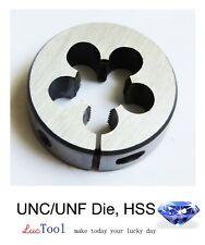 """8-36 UNF Die Round Adjustable Split Threading Die 13/16"""" OD Inch Thread HSS"""