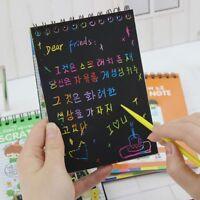 Notebook Black Cardboard Creative DIY Draw Kid Notebook Fashion School Supplies