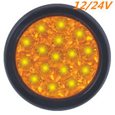 "Round 5"" 16 LED Turn Signal Indicator Amber Light Lamp for Truck Trailer RV Van"