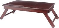 Winsome Alden Bed Tray Walnut Adjustable Top Drawer for Storage Work Station