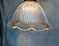 "Holophane Design Shade 9"" X 2 1/4"" Glass Globe Pendant, Fan Lamp Fixture"
