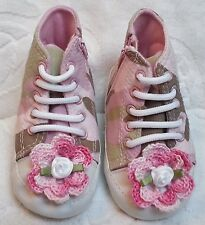 NEW PINK CAMOUFLAGE HIGH TOPS SNEAKERS SHOES 3 6 12 18 MONTHS BABY INFANT GIRLS