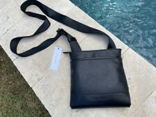 Calvin Klein Men's Small Faux Leather Black Crossbody Bag