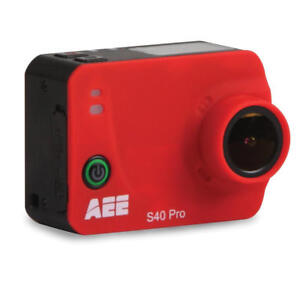 AEE S40 Pro 1080p Action Camera 16MP Photo Capture & Waterproof Housing - Red