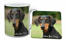 Doberman Pinscher 'Love You Dad' Mug+Coaster Christmas/Birthday Gift I, DAD-21MC