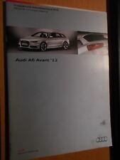 AUDI A6 Avant 2012 : programme autodidactique 603