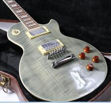 Stock 59 Neck LP Standard Electric Guitar Figured Maple Veneer Trans Black Grove