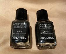 Lot of 2  GENUINE CHANEL Le Vernis TOP COAT  BLACK METAMORPHOSIS Nail Polish