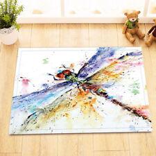 Watercolor Colorful Dragonfly Floor Carpet Area Rug Non-skid Kitchen Door Mat