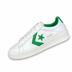 New Converse Pro Leather OG OX Size 7 Men's Low Top Sneaker White Green 167971C