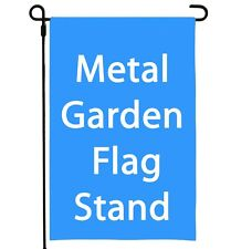 "Garden Yard Flag Stand Holder  Metal Heavy Duty Iron Outdoor Decor 14"" Wide"