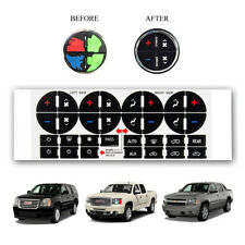 AC Button Stickers Kit Decal Dash Repair for For 06-15 GMC Chevy Tahoe Buick
