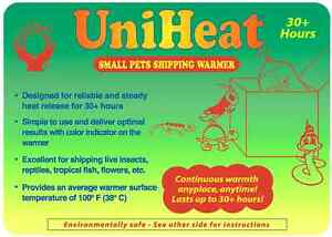 Uniheat 30 Hr Shipping Warmer Heat Pack Tropical Fish Corals Reptiles Insects