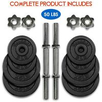 Yes4All Cast Iron Adjustable Dumbbells Set 50lbs