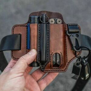 NEW EDC Tool Holster Leather Pouch Outdoor Waist Belt Pouch Survival Camping