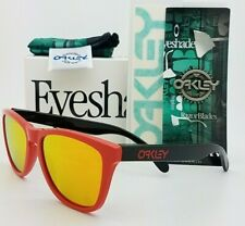 NEW Oakley Frogskins sunglasses Heritage Red Fire Irid 9013-34 AUTHENTIC 9013