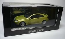 MERCEDES BENZ C-CLASS 2001 SPORT COUPE LIGHT GREEN METALLIC 1:43 MINICHAMPS