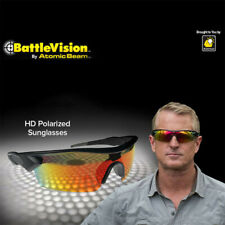 2 Pair Battle Vision HD Polarized Sunglasses Clear Vision As seen on TV Fits All