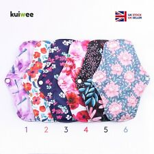 Sanitary Bamboo Menstrual Pads Reusable Washable Cloth Maternity 3 SIZES - S M L
