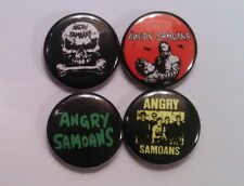 "4 x Angry Samoans 1"" Pin Button Badges ( punk rock hardcore america music )"
