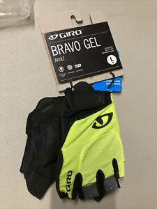 ! Giro Bravo Gel Adult Large Cycling Bike MTB Gloves Highlight Yellow