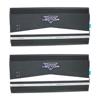 New LANZAR AUDIO 6000W 2 Channel Car Amplifier Power Amp Stereo MOSFET (2 Pack)