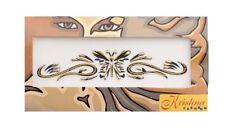 Bindi bijou de peau dore papillon tribal body tatoo ethnic pour les bras 2773