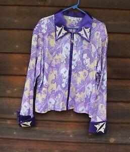Hobby Horse show rail shirt, purple and tan 3x