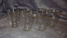 Small Clear Glass Juice Glasses Flared top pebbled 6 3 oz flat bottom glasses