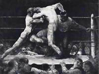 GEORGE BELLOWS AMERICAN STAG SHARKEYS OLD ART PAINTING POSTER PRINT BB5427B