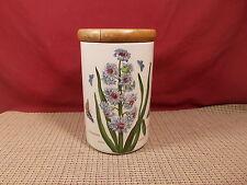 "Portmeirion China Botanic Garden Storage Jar Eastern Hyacinth 7"""