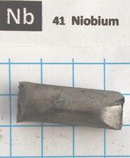 29 gram 1.02 Oz Niobium Columbium metal rod 99.9% pure element 41 sample