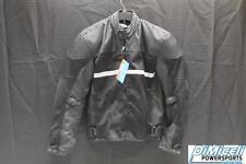 NEW SMALL BLACK POLYESTER REFLECTIVE ARMOR MOTORCYCLE JACKET*JACKET RUN SMALL