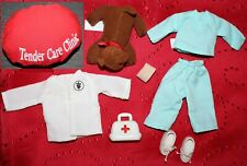 Madeline Doll Clothes Veterinarian Outfit & Playset Eden Scrubs, Medical Bag Dog