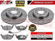 FOR VW GOLF MK6 VI 1.6 1.6i FRONT BRAKE DISCS AND PADS PAD SET 2009-2012
