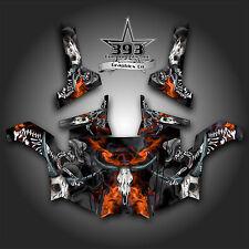Polaris RZR 800 UTV Graphics Decal Wrap 2011 - 2014 Skull Rider Orange