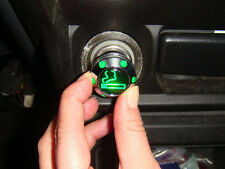 CAR Japanese Auto Chrome Adapter Cigar Plug  Cigarette Lighter Green LED Light